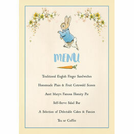 Beatrix Potter Peter Rabbit Party Menu