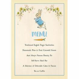 Beatrix Potter Peter Rabbit Party Menu
