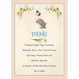 Beatrix Potter Jemima Puddle-Duck Party Menu