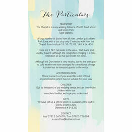 Pastel Geometric Guest Information Card