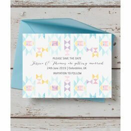 Pastel Geometric Save the Date