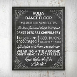 Chalkboard Wedding or Party Dance Floor Rules Poster