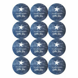Twinkle Twinkle Little Star Stickers - Sheet of 12