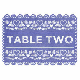 Mexican Bunting Papel Picado Table Name