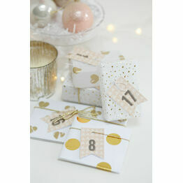 Rustic Kraft Printable Advent Calendar Tags