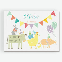 Farmyard Animal Themed Party Invitation