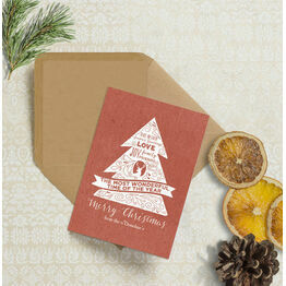Rustic Red Personalised Christmas Cards