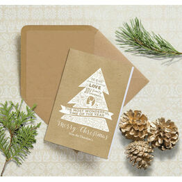 Rustic Kraft Personalised Christmas Cards