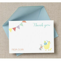 Farmyard Animal Themed Personalised Thank You Cards