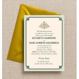 Pastel Art Deco Wedding Invitation