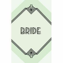Pastel Art Deco Place Card - Set of 9