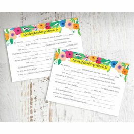 Floral Fiesta Wedding Wishes & Words of Wisdom Cards