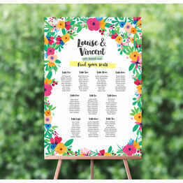 Floral Fiesta Wedding Seating Plan