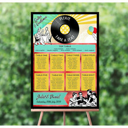 Retro Diner 1950s Wedding Seating Plan