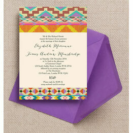 Aztec Ikat Wedding Invitation