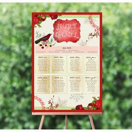 Winter Wonderland Wedding Seating Plan