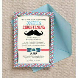 'Little Man' Christening / Baptism Invitation