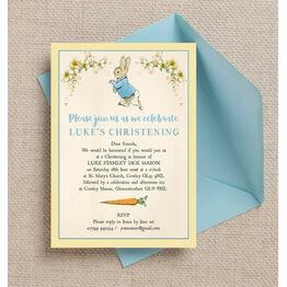 Peter Rabbit Christening / Baptism Invitation