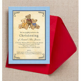 Teddy Bears' Picnic Christening / Baptism Invitation
