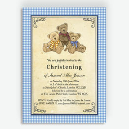 Teddy Bears\' Picnic Christening / Baptism Invitation