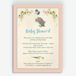 Jemima Puddle-Duck Baby Shower Invitation
