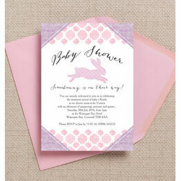 Pastel Bunny Baby Shower Invitation