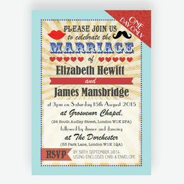 Circus Extravaganza Wedding Invitation