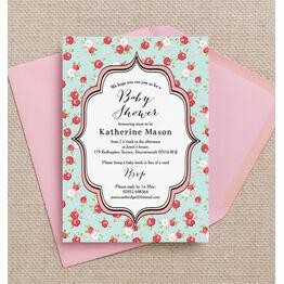 Vintage Rose Baby Shower Invitation