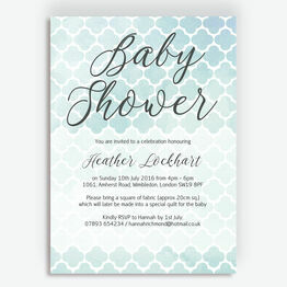 Watercolour Geometric Baby Shower Invitation