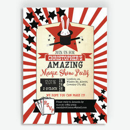 Magic Show Party Invitation