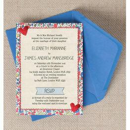 Country Textiles Wedding Invitation