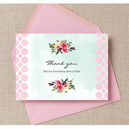 Watercolour Floral Thank You Cards