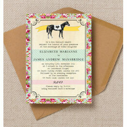 Day at the Races Wedding Invitation