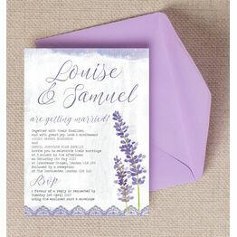 Lilac & Lavender Wedding Invitation