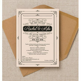 Elegant Vintage Wedding Invitation