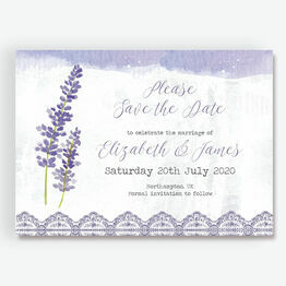 Lilac & Lavender Save the Date