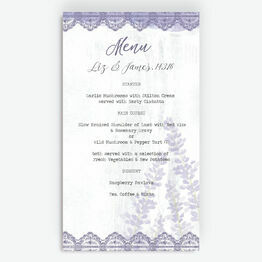 Lilac & Lavender Menu