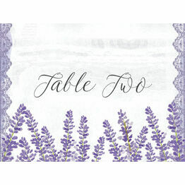 Lilac & Lavender Table Name