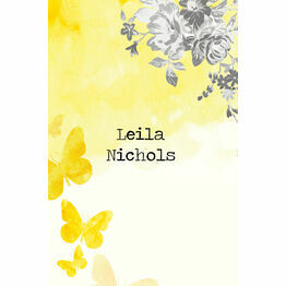 Yellow & Grey Watercolour Floral Place Cards - Set of 9