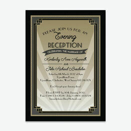 Art Deco Evening Reception Invitation