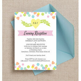 Candy Confetti Evening Reception Invitation