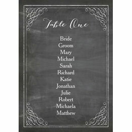 Vintage Chalkboard Table Plan Card