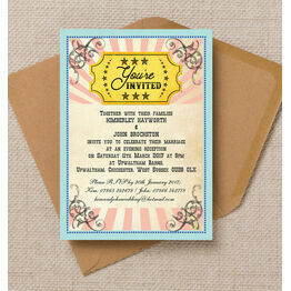 Circus Extravaganza Evening Reception Invitation