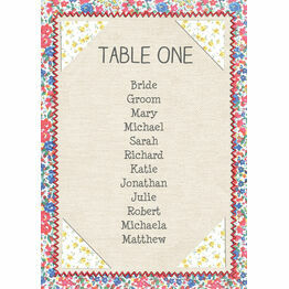 Country Textiles Table Plan Card