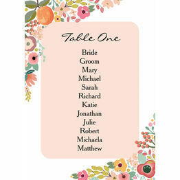 Elegant Floral Table Plan Card