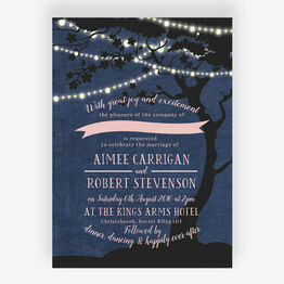 Enchanted Fairy Lights Wedding Invitation