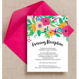 Floral Fiesta Evening Reception Invitation