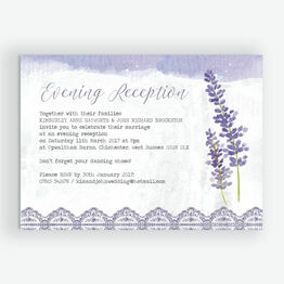 Lilac & Lavender Evening Reception Invitation