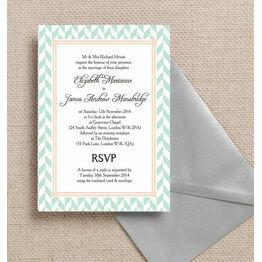 Pastel Bohemian Wedding Invitation
