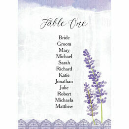 Lilac & Lavender Table Plan Card